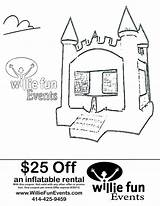 Bounce Coloring Events Fun Coupon Bouncy Inflatable Willie Parties Inspiration Pages Rental Party sketch template