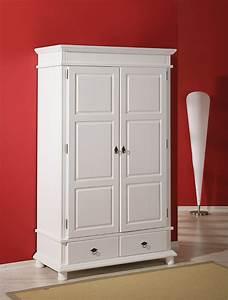 Armoire 2 portes 2 tiroirs danz blanc for Robe de chambre enfant avec la redoute matelas memoire de forme
