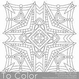 Mandala Coloring Pages Square Printable Pdf Pattern Adults Sheets Etsy Sheet Easy Stars Books Getdrawings Drawing Instant sketch template