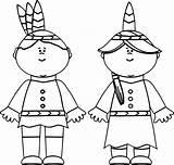 Coloring Pilgrim Native Pages Indian American Thanksgiving Gingerbread Printable Boy Drawing Kindergarten Hat Americans Getcolorings Doll Getdrawings Print Sheets Better sketch template