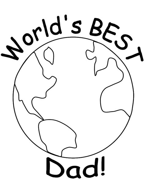 Printable Dad # 5 Coloring Pages - Coloringpagebook.com