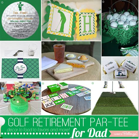 Click for some themes to make that party pop!! Golf Retirement Party Ideas for Dad