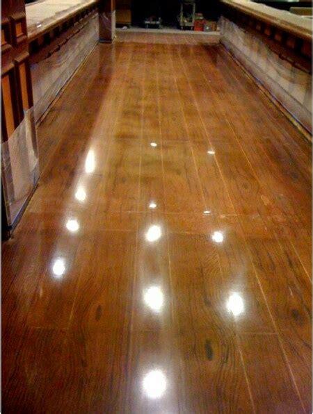faux hardwood flooring faux wood polished concrete floor floors pinterest