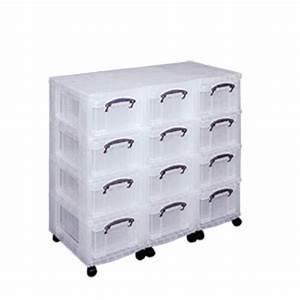 Boite Tiroir Plastique : tour de rangement multi tiroirs en plastique sur roulettes ~ Teatrodelosmanantiales.com Idées de Décoration