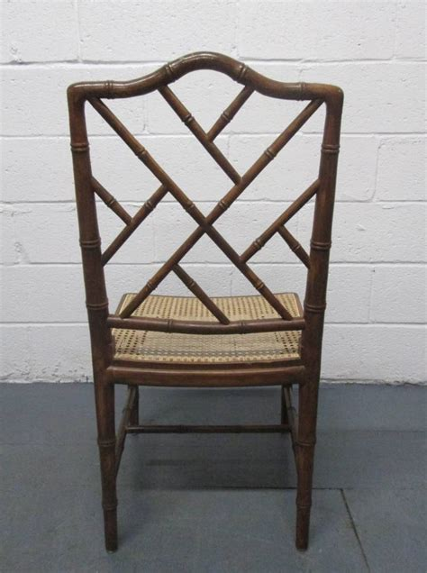4 Faux Bamboo Chinese Chippendale Style Chairs For Sale At