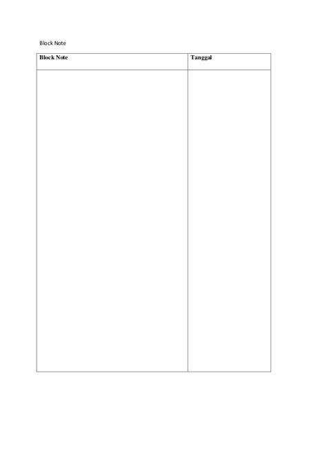 format block note