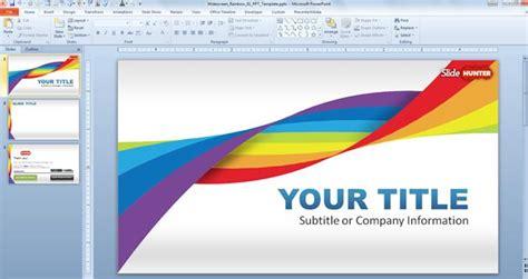 widescreen rainbow template  powerpoint
