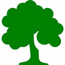 Green deciduous tree icon - Free green tree icons