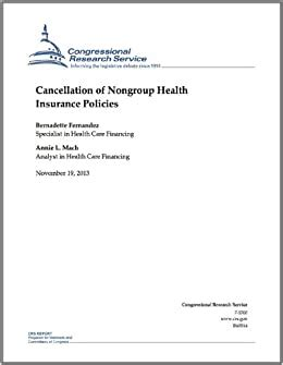 You must be a policyholder to cancel. Amazon.com: Cancellation of Nongroup Health Insurance Policies eBook: Bernadette Fernandez ...