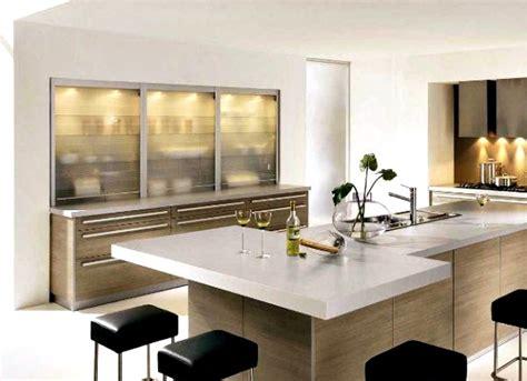 cuisine contemporaine ilot central idee decoration maison moderne deco maison moderne