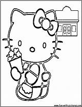 Popcorn Coloring Pages Fun Kitty Hello sketch template