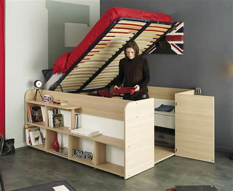 Closet Bookshelf clever bed designs with integrated storage for max efficiency