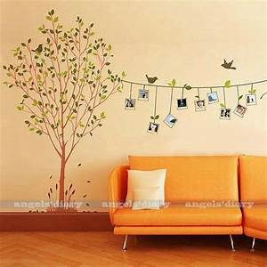 removable photo frame tree vinyl art wall sticker decal With vinyl wall decal