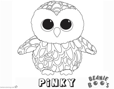 Kleurplaten Ty Beanie Boos by Beanie Boo Coloring Pages Owl Free Printable