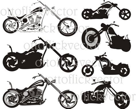 Chopper Motorcycle Vector Clipart, Eps, Cdr, Ai, Png, Jpg
