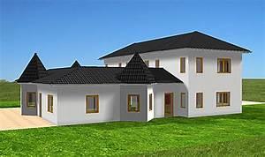 Bungalow Mit Atrium : atrium 289 30 12 ansicht 2 5 bungalow mit turm schloss einfamilienhaus neubau massivhaus stein ~ Indierocktalk.com Haus und Dekorationen