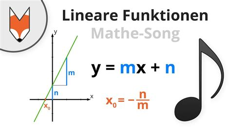 lineare funktionen mathe song youtube