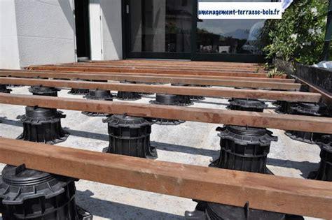 terrasse bois sur plot