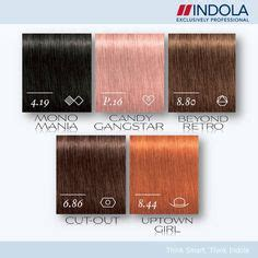 indola profession permanent caring hair color chart