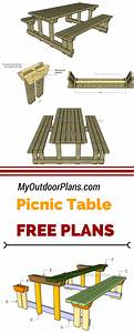 Learn How To Build This Picnic Table With Detached Benches