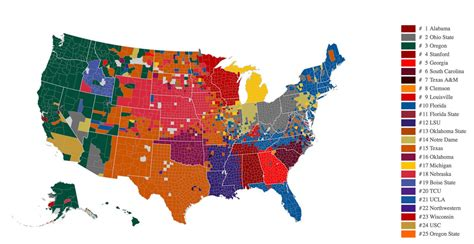 what football team has the most fans facebook map shows what states have the most support in