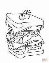 Sandwich Kleurplaat Coloring Colouring Clipart Broodje Steak Sheet Printable Huiswerk Colorare Supercoloring Disegno Gratis Kleurplaten Mcdonald Belegd Template Colorir sketch template