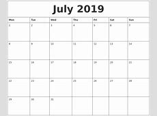 July 2019 Calendar Cute free printable calendars 2018