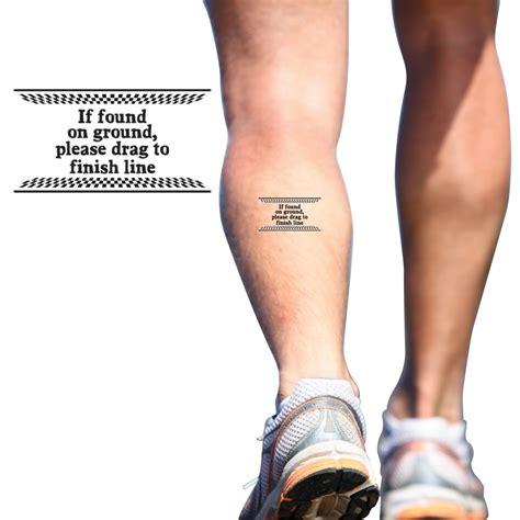 temporary running tattoo