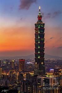 Taipei, 101, At, Sunset