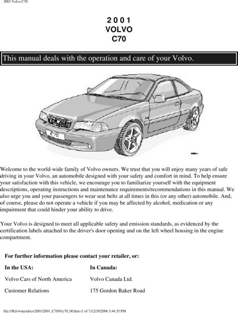 volvo   owners manual