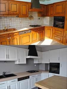 cuisine bois quelle peinture pour repeindre meuble With repeindre meuble cuisine en bois