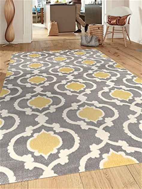 yellow and grey area rugs rugshop moroccan trellis contemporary indoor area rug 5 3