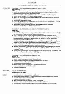 Planning manager resume