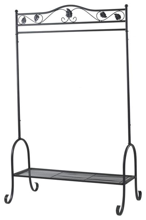 Decorative Clothing Racks Uk by Clothes Rail Black Traditional Clothes Racks Other