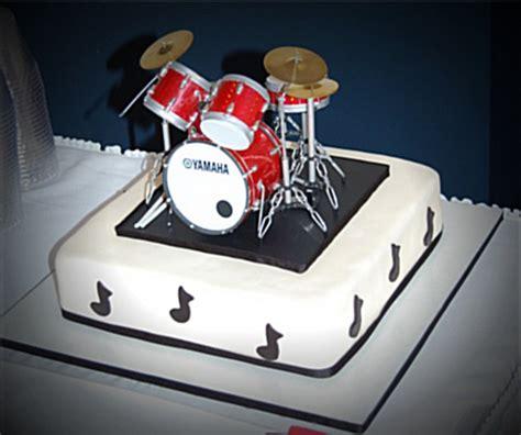 fantastic designs  drum themed cakes