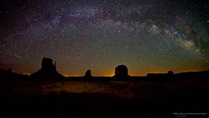 """The Milky Way over Monument Valley"""