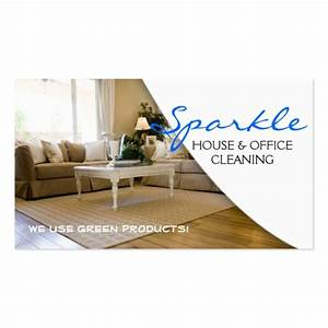 House Cleaning Business Cards Examples