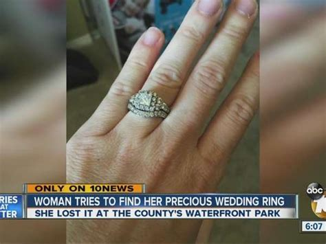 woman tries to find precious wedding ring lost one news