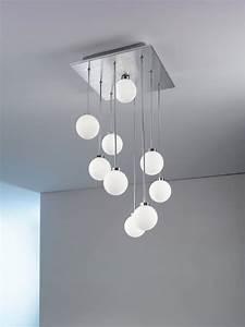 Plafonnier Boule Verre : plafonnier boule verre design en image ~ Teatrodelosmanantiales.com Idées de Décoration