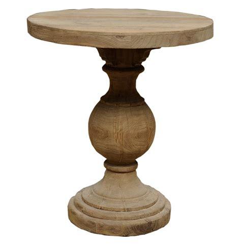 pedestal table base unfinished kason reclaimed wood country pedestal