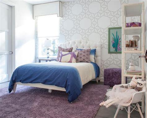 Modern Purple And Blue Bedroom