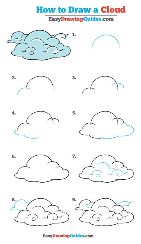 draw clouds  easy drawing tutorial easy