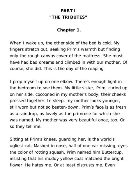 The Hunger Summary Chapter 4 by Hunger