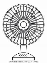 Fan Table Electric Vector Shutterstock Clip Template Heatwave Vectors Office sketch template