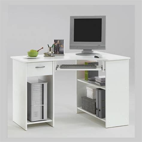 white corner computer desk felix home office wooden corner computer desk in white