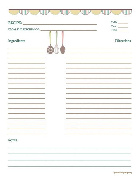 Recipe Template 44 Cookbook Templates Recipe Book Recipe Cards