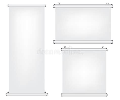 roll projector screen roll up and projector screen illustration royalty free 9226