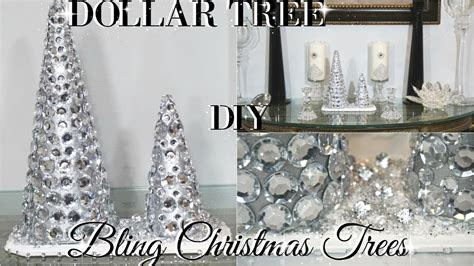 diy dollar tree glam christmas trees dollar store diy