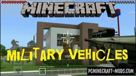 military weapons vehicles minecraft pe mod    pc java mods