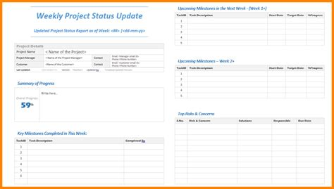 weekly update template  invoice letter